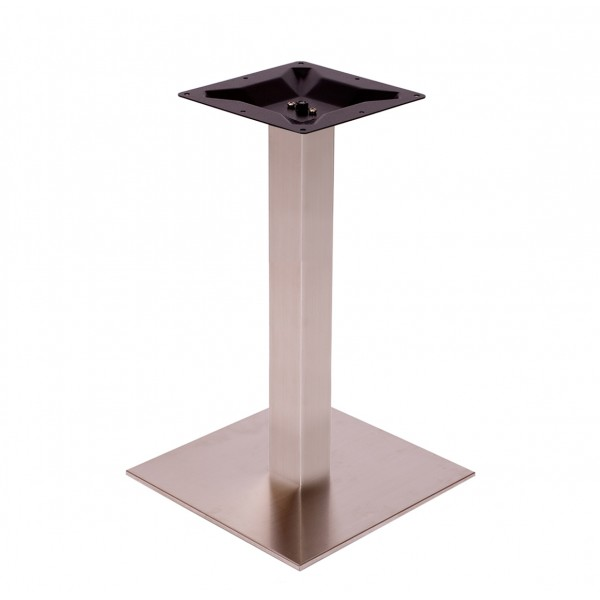 Platter Square Stainless Steel Commercial Outdoor Patio Restaurant Table Base
