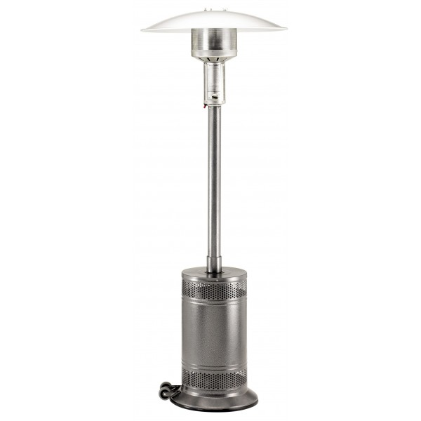 Propane Patio Heater Jet/Silver Vein with Push Button Ignition