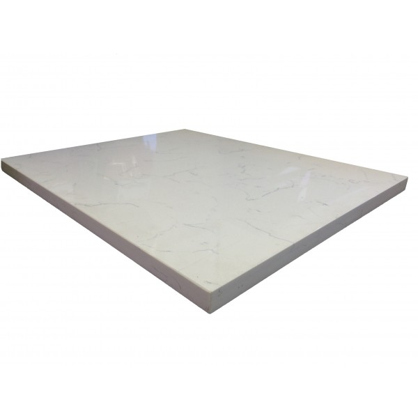30 x 42 Quartz Carrara Tabletop