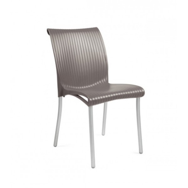 Nardi Regina Stacking Resin Side Chair - Tortora