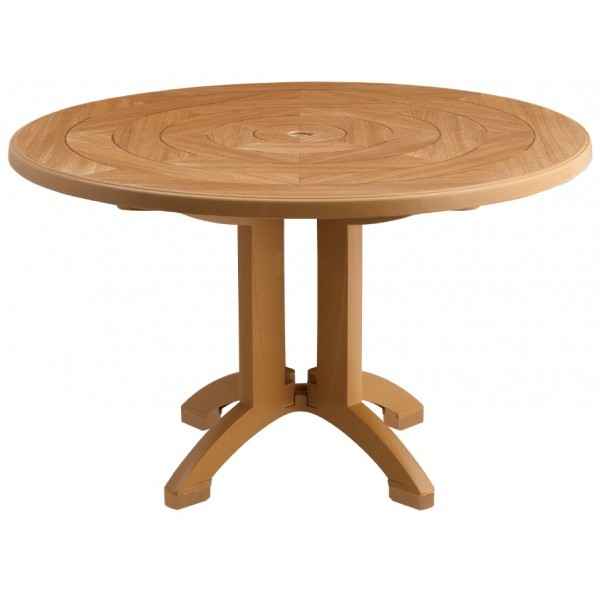 "Restaurant Outdoor Tables Atlantis 48"" Round Table with Balcony Leg"
