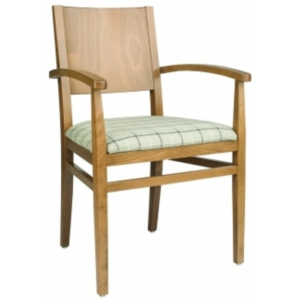 European Beech Solid Wood Restaurant Chairs Holsag Rizzo Arm Chair