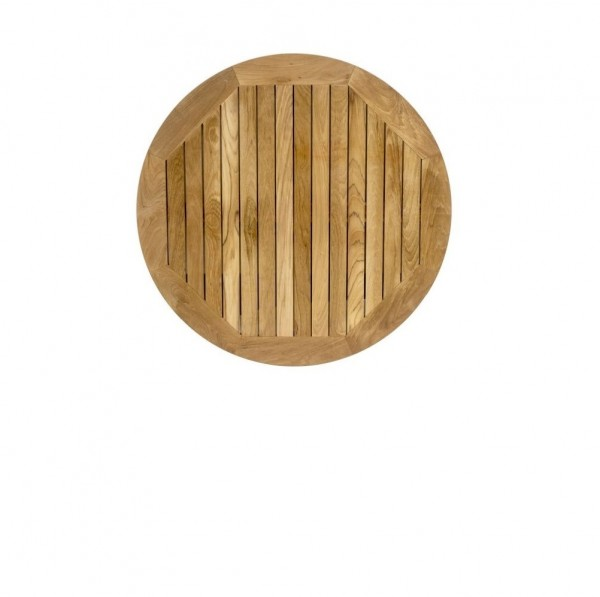 Round Teak Outdoor Hospitality Restaurant Table Tops - 24""