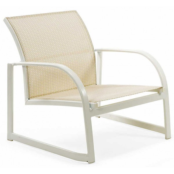 Scandia Relaxed Sling Sled Base Stacking Sand Chair