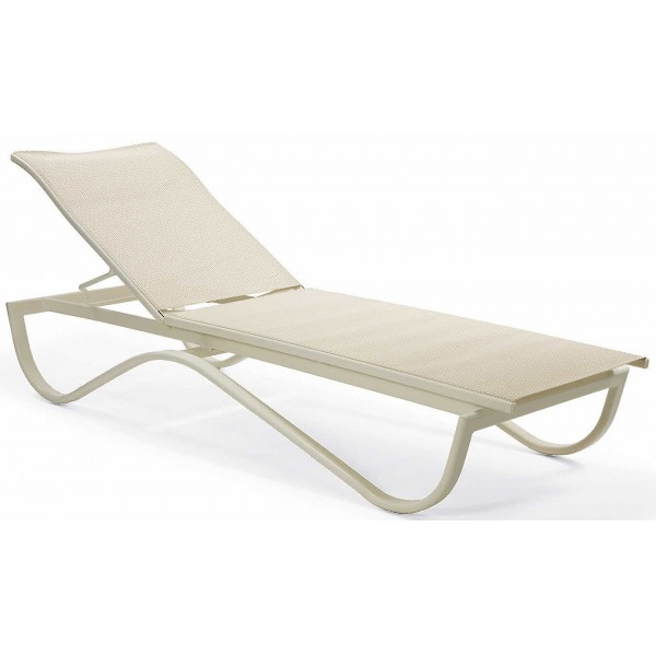Scandia Relaxed Sling Stacking Chaise Lounge