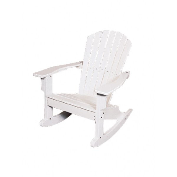 Shell Back Adirondack Rocking Chair