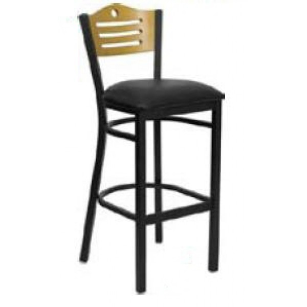 Awe Inspiring Shoreline Wood Back Bar Stool Sl2150 1 Sh Dailytribune Chair Design For Home Dailytribuneorg