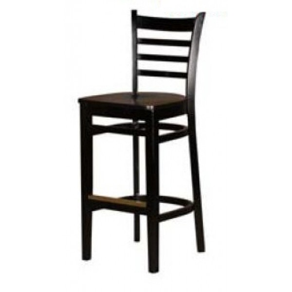 Terrific Solid Wood Ladder Back Bar Stool Black Wb101 Blk Forskolin Free Trial Chair Design Images Forskolin Free Trialorg