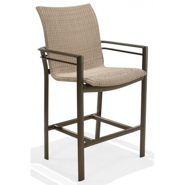 Southern Cay Woven Stationary Bar Stool