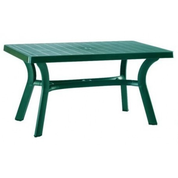 "Sunrise 31"" x 55"" Rectangular Resin Table - Green"