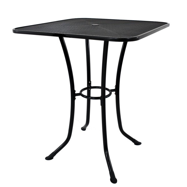 T3136-0200S 36 Square Commercial Wrought Iron Mesh Outdoor Bar Height Table