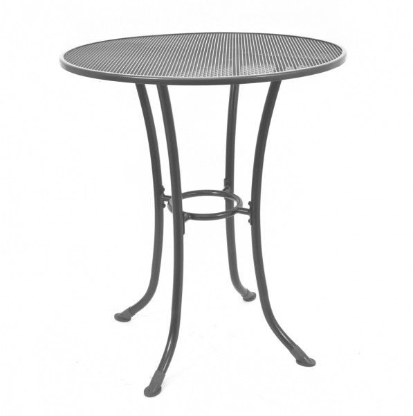 T3168-0200S 36 Round Commercial Wrought Iron Mesh Outdoor Bar Height Table