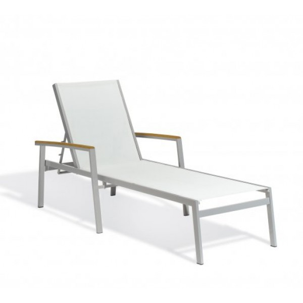 Carrillo Natural Sling Chaise Lounge - Tekwood Natural