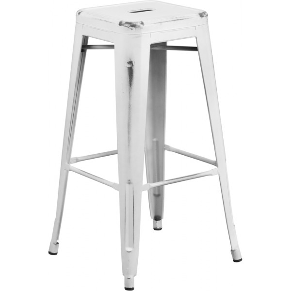 "Outdoor Industrial Restaurant Bar Stools Westinghouse 30"" Backless Bar Stool"