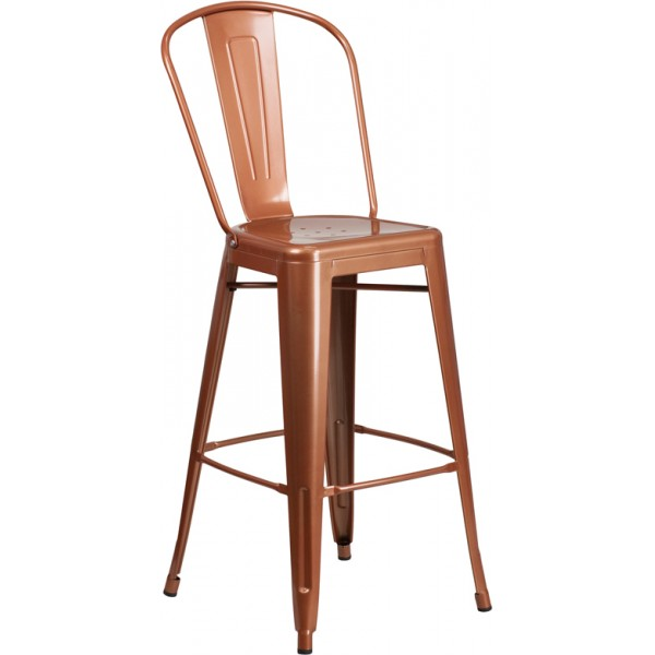 "Outdoor Industrial Restaurant Bar Stools Westinghouse 30"" Bar Stool with 14-Inch Seat"
