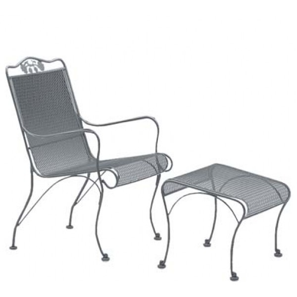 Wrought Iron Hospitality Lounge Chairs Briarwood Ottoman