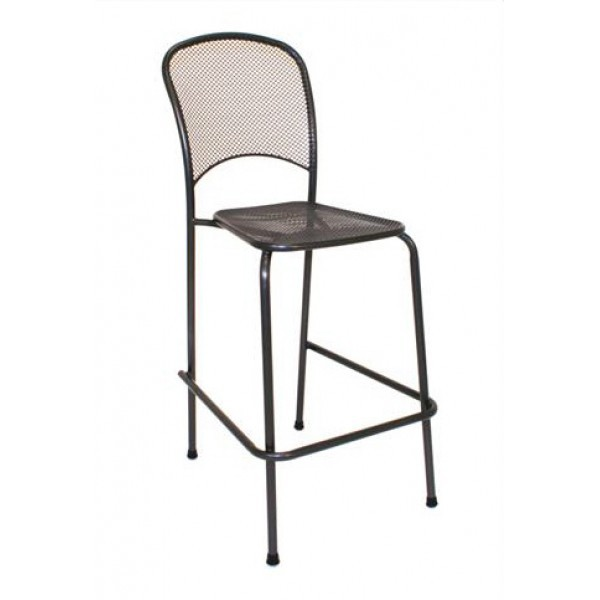 Wrought Iron Restaurant Barstools Carlo Bar Stool