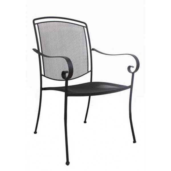 Wrought Iron Restaurant Chairs Henley Arm Chair