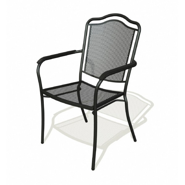 Wrought Iron Restaurant Chairs Newport Arm Chair