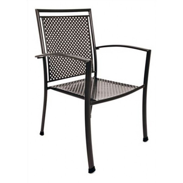 Wrought Iron Restaurant Chairs Reno Arm Chair