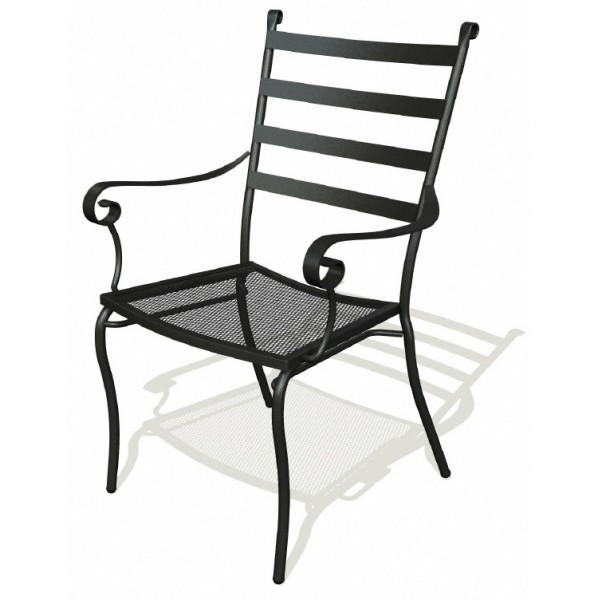 Wrought Iron Restaurant Chairs Terrace Arm Chair
