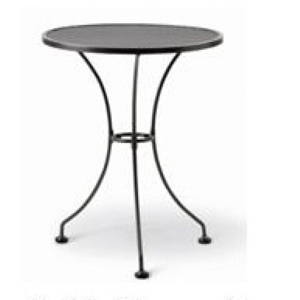 "Wrought Iron Restaurant Tables 24"" Round Mesh Top Table"