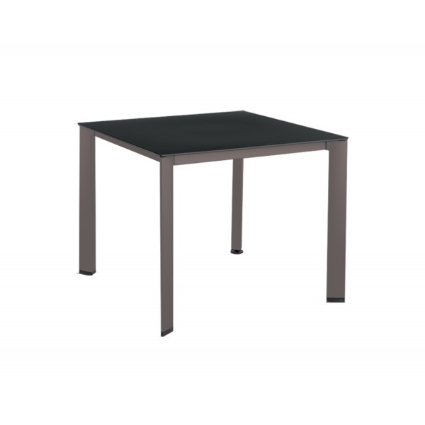 "Wrought Iron Restaurant Tables 37"" Square Loft"