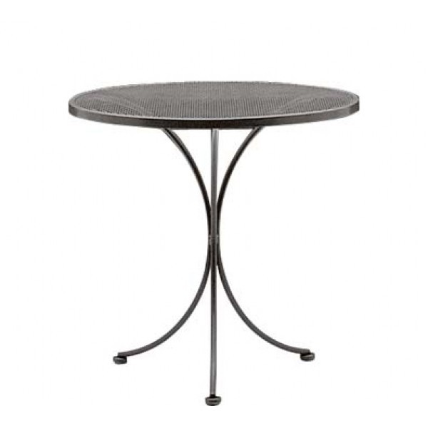 "Wrought Iron Restaurant Tables Bistro Mesh 30"" Round Table"