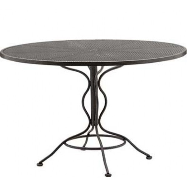 "Wrought Iron Restaurant Tables Bistro Mesh 36"" Round Table"