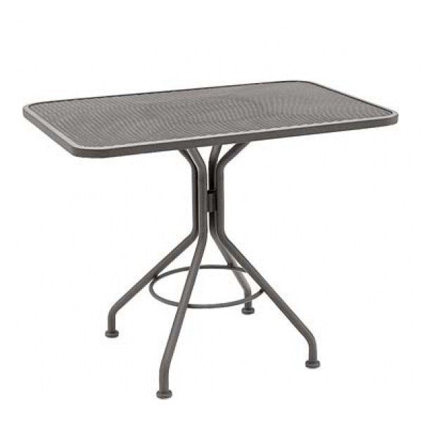 "Wrought Iron Restaurant Tables Contract Mesh 24"" Square Table"