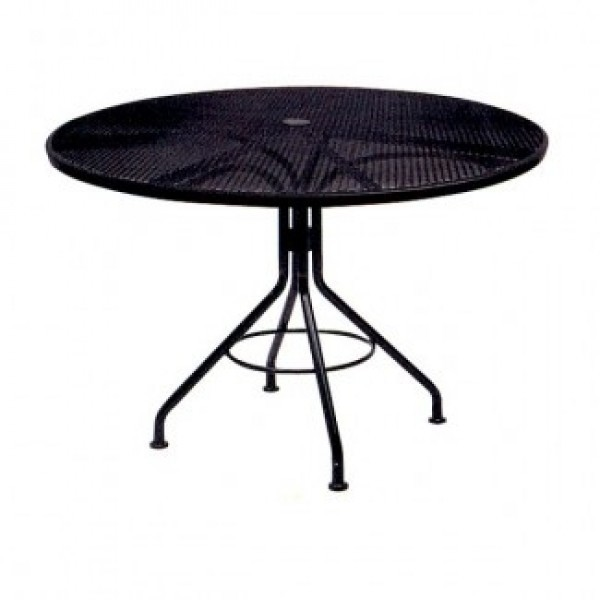 Wrought Iron Round Table.Contract Mesh 30
