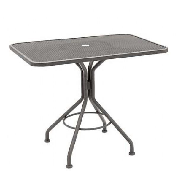 "Wrought Iron Restaurant Tables Contract Mesh 36"" Square Table"