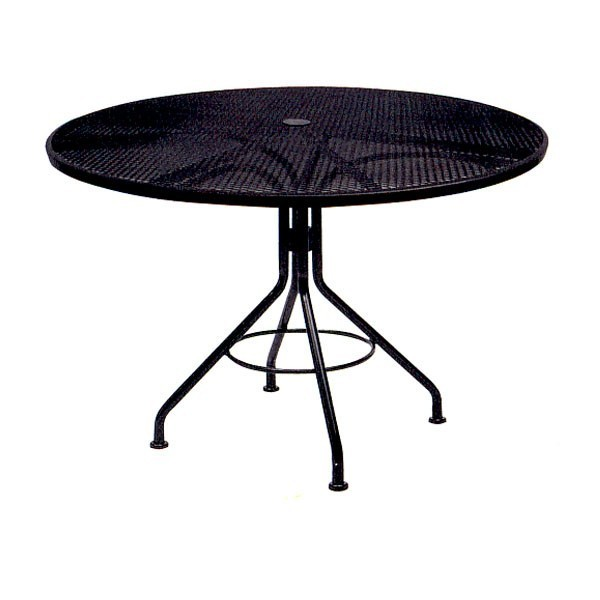 "Wrought Iron Restaurant Tables Contract Mesh 48"" Round Table"