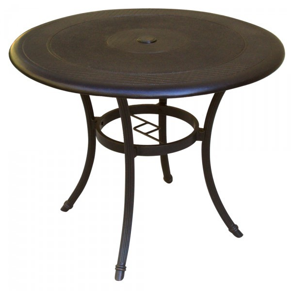 "Wrought Iron Restaurant Tables Madrid 42"" Round Dining Table"