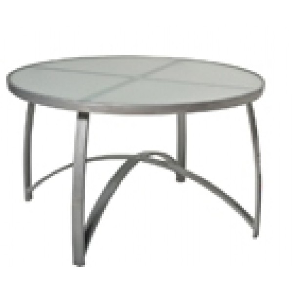 "Wyatt 48"" Round Dining Table - Frosted Glass"