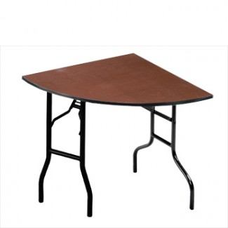 "96"" Quarter Round Folding Banquet Table"