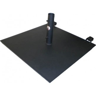 125lb Flat Steel Umbrella Base with Wheels