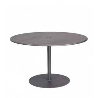 "Solid 48"" Round Umbrella Table - Pedestal Base"
