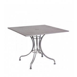 "Solid 36"" Square Umbrella Table - Ornate Base"