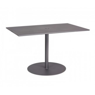 Restaurant Furniture ADA Compliant Rectangular Umbrella Table - Ada restaurant table
