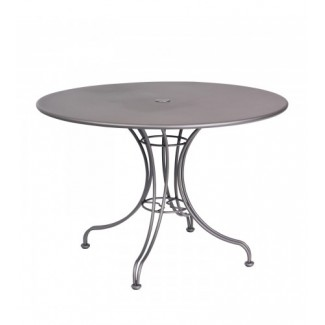 "Solid 42"" Round Umbrella Table - Ornate Base"