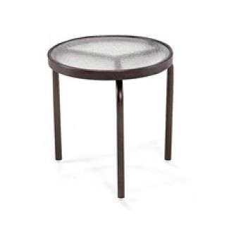 "18"" Round Acrylic Top Side Table M1018"