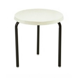 "18"" Round Slate Fiberglass Top Side Table M1118"
