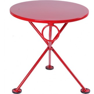 "20"" Round Metal Coffee Table"
