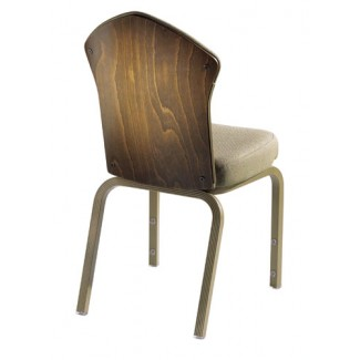 21/3 Vario Allday Wood Back Upholstered Chair