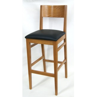 2375P Oak Commercial Restaurant Hospitality Beech wood Modern Transitional Cafe Dining Bar Stool