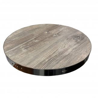 24 inch round Industrial Commercial Metal Edge Indoor Restauarnt Cafe Bar Table Top