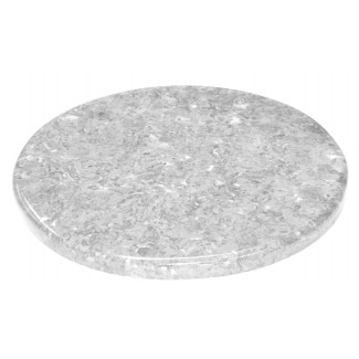 "24"" Round Faux Marble Table Top with Granite Finish and 1.25"" Edge"