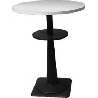 "Marzio 24"" Round Stacking Restaurant Bar Table with Black Base"