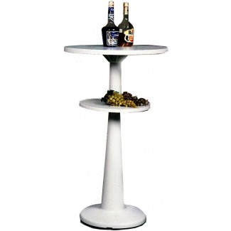 "Marzio 24"" Round Stacking Restaurant Bar Table with White Base"